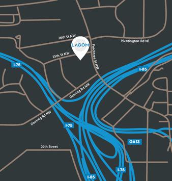 Lagom Interiors location map