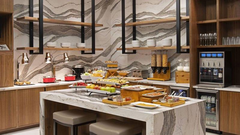 M Club Marriott Breakfast Area